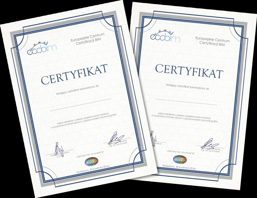 certyfikaty, ecc bim, szkolenia , certyfikowane , bim